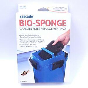 Penn Plax Cascade 700/1000 GPH Canister Filter Aquarium Bio Sponge , 1 Pack