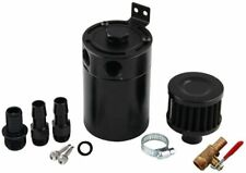 Universal 2-Port Oil Catch Can Tank Reservoir Fuel with Drain Valve Oil Filter