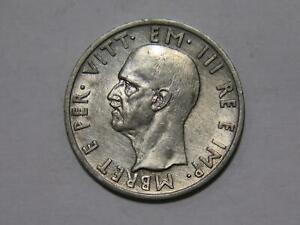 ALBANIA 1939 R 5 LEK ITALIAN OCCUPATION VITTORIO EMANUELE III WORLD COIN 🌈⭐🌈