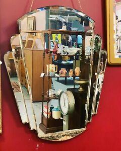 Art Deco 1930s Fan Mirror