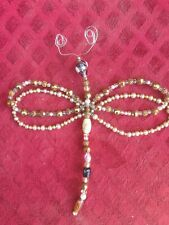 "Handcrafted Beaded 7.5"" Long Dragonfly"