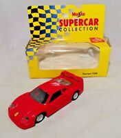 MAISTO - SUPER CAR COLLECTION - 1:39 DIECAST - FERRARI F40 - RED - BOXED