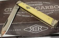 VINTAGE YELLOW DR DOCTORS HUNTING POCKET KNIFE W/ DISPLAY CASE !!!