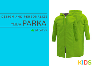 MD, Swim Parka Waterproof Coat, Boy, Girl, Youth, Personalized, 24 Colors.