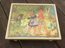 Vintage Wooden Block Six Picture Puzzle by Herbart Spiele, West Germany
