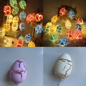 Easter LED Cracked Egg Light String Birthday Party Decoration Lantern Battery