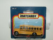 """Matchbox Superfast MB47 School Bus """"School District 2"""" MIB"""