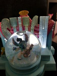 Disney Snow globe Stitch Light Up Elvis 626 Snowglobe ornament figurine