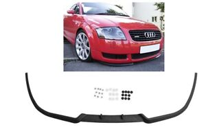 For Audi TT MK1 8N Front Bumper Cup Chin Spoiler Lip Splitter Valance + Screws