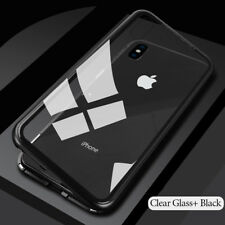 New Magnetic Adsorption Tempered Glass Case Cover For iPhone XR XS X 7 8 6 Plus