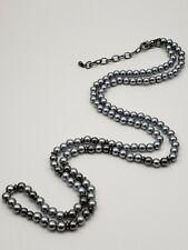 """Pearl Necklace 32-35"""" Estate Vintage Gray Black"""