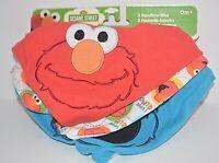 3 PACK 123 Sesame Street BANDANA BIBS 0+ BABY BOY GIRL BIB Cookie Monster BURP