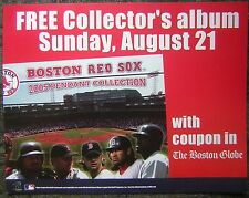 "2005 Boston Globe 11x14"" Red Sox 'Pendant Collection Album' Advertising Sign"