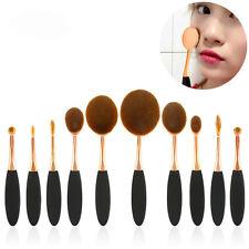 10Pcs Professional Oval Cream Makeup Brush Set Kabuki Toothbrush foundation Tool