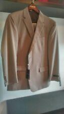 Jones New York Men's Tan Herringbone Graham Suit 44R 37.5W New with Tags