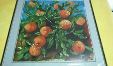 Renato Guttuso foulard stampa arance 87 cm. x 84 cm.