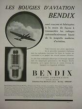 6/1939 PUB BENDIX AVIATION BOUGIES MAGNETO AVION AIRCRAFT FLUGZEUG FRENCH AD