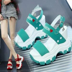 Women Platform Wedge Gladiator Sandals High Heel Open Toe Strap Summer Pumps New