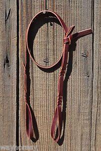 "Jose Ortiz 1/2"" Latigo Bosal Noseband Hanger - Self-tie"