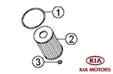 Genuine Kia Sportage 2010-2017 1.7 Diesel Engine Oil Filter Cartridge 263202A500