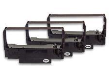 3x Cinta de Impresora Negro Nylon para Bixolon SRP 270, 275