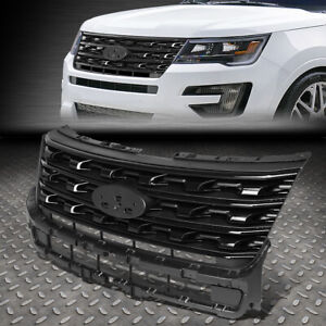FOR 16-17 FORD EXPLORER FACTORY OE STYLE FRONT BUMPER GRILL GRILLE GLOSSY BLACK