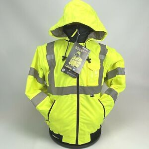 8 in 1 Hi-Vis Class 3 Lvl 2 Insulated Safety Bomber Jacket Zip out Fleece Coat