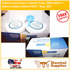 Defend Impression material Putty 300ml Base + 300ml Catalyst 600ml FAST SET