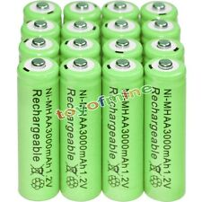16x AA battery batteries Bulk Nickel Hydride Rechargeable NI-MH 3000mAh 1.2V Gre