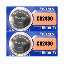 Sony CR2430 Lithium Corner Case Batteries in BLISTER of 5 Batteries
