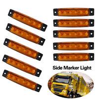 10 x 6 LED 12V Orange Amber Side Marker Indicators Lights Trailer Truck Lamp