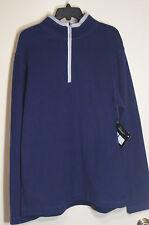 FILA Mens 1/2 Zip Fleece Pullover NWT $65 Navy XL
