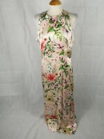 Ladies Dress Size 12 M&S Satin Maxi Long Pink Party Evening Wedding Races