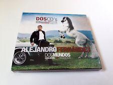 "ALEJANDRO FERNANDEZ ""DOS MUNDOS EVOLUCION + TRADICION"" 2CD 22 TRACKS CON FUNDA C"