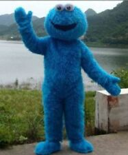 2018 Nice Sesame Street Elmo Cookie Monster Adult Mascot Costume Outfit Hallowee