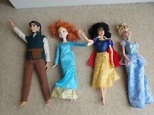 Paquete De Muñecas Disney 4 X, Flynn Rider, Mérida, Snow White & Cenicienta NCC