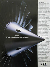 6/1991 PUB CFE GARRETT GENERAL ELECTRIC CFE738 ENGINE FALCON 2000 FRENCH AD