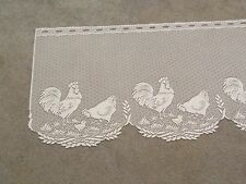 "New White lace Rooster  design Tier 24"" x 60"""