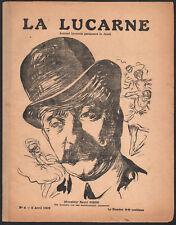 1909 La lucarne Rarissime journal lyonnais Raoul Cinoh Lyon