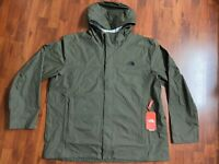 NWT The North Face Men's Venture 2 Dryvent Waterproof Hooded Rain 3XL Green XXXL