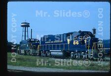 Original Slide BAR Bangor & Aroostook Clean Paint GP38s 86 & 81 N. Maine Jct ME