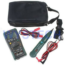 MASTECH MS8236 2 IN 1 Digital Multimeter DMM + Network Cable Wire Track Tester
