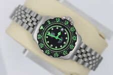 NEW Tag Heuer WA1415 Formula One F1 Watch Women's Neon Green Black SS NOS BOX