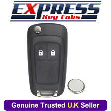 Vauxhall Opel Zafira C Meriva B Astra Remote 2 Button Car Key Fob Case + Battery