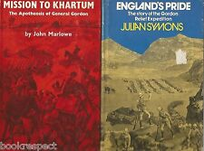GORDON Mission to Khartum by Marlowe 1969 Englands Pride by Symons 1974  2 BOOKS