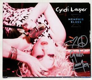 Cyndi Lauper Signed Memphis Blues CD