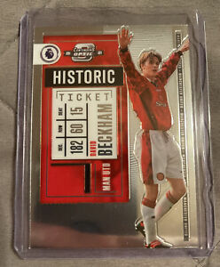 David Beckham 2020-21 Panini Chronicles Contenders Optic Historic Ticket #1 SP