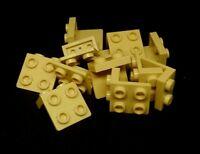 Lego Bracket Plate 1x2 - 2x2 [44728] Beige Tan x12
