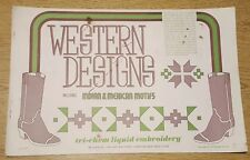 WESTERN DESIGNS Vintage Tri-Chem Hot Iron Transfer Patterns Book 10 Pages