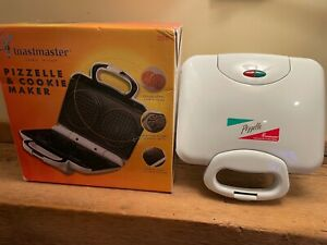 Toastmaster Italian Pizzelle & Cookie Maker Model 208 Tested Works in Box CLEAN